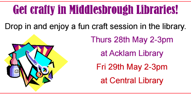 Half Term Family Fun at Middlesbrough Libraries