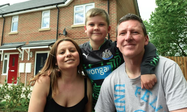 Delighted Gateshead Family Move Into Affordable New Build Home