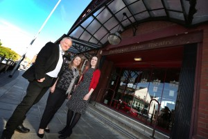 Image 1 - L-R Space Group's David Coundon, Theatre Director Lynda Winstanley and Space Group's Carinna Gebhard