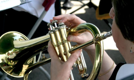 Brass Bands Blow Their Trumpets
