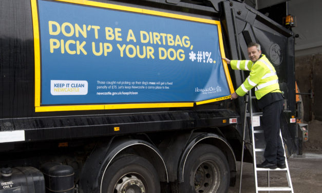 Council Fleet hit the Roads Sporting New keep it Clean Messages