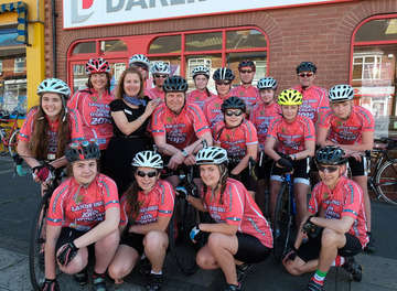 Darlington Building Society Supports Local Cycling Club for Marathon Trip