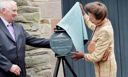 Royal Guest of Honour at the Lakes Distillery