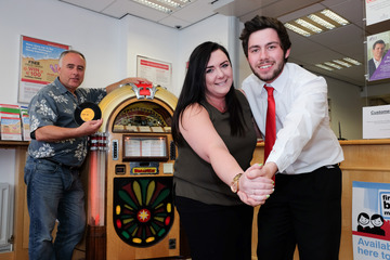 Vintage Vinyl and Jukebox Dealer brings Music to Northallerton Branch of Darlington Building Society