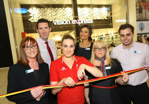 Paralympian Harriet Lee joins Vision Express Newcastle to Launch new Eldon Square store during Macular Week 2015