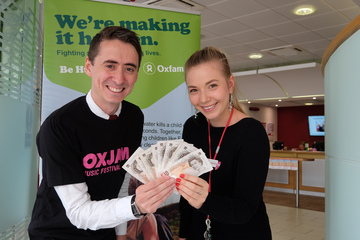 Oxjam Darlo gets a Boost from Darlington Building Society