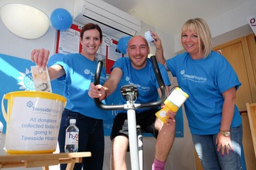 Darlington Building Society gets in the Saddle to Raise Money for Hospice