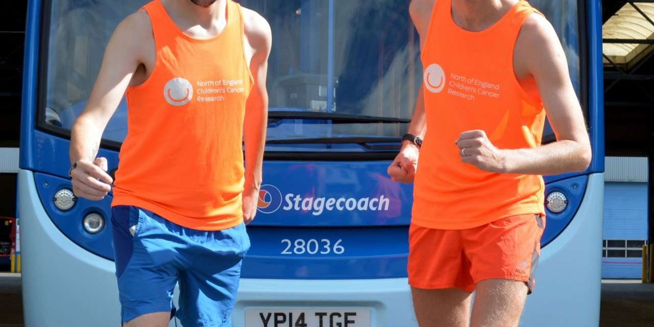 Bus Drivers Michael and Sean Swap Tyres for Trainers in Race for Charity