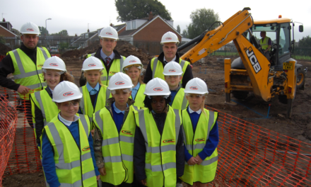 Gus Robinson Developments Ltd Staff show Youngsters how they Operate
