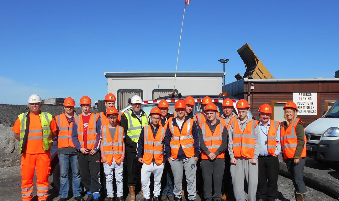 Apprenticeship Candidates on Site with Banks Mining to look at Local Career Opportunities