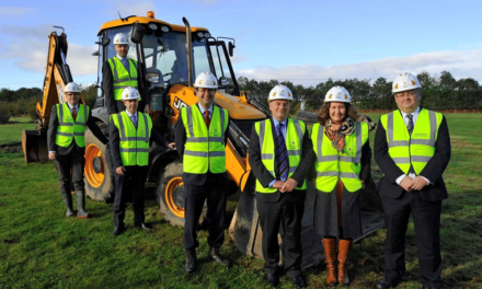 Ground breaking at UTC South Durham