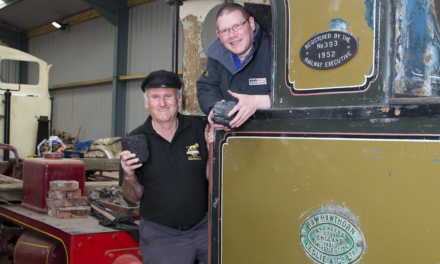 Local Coal to Fuel first steam-hauled train at Alnwick in 50 years