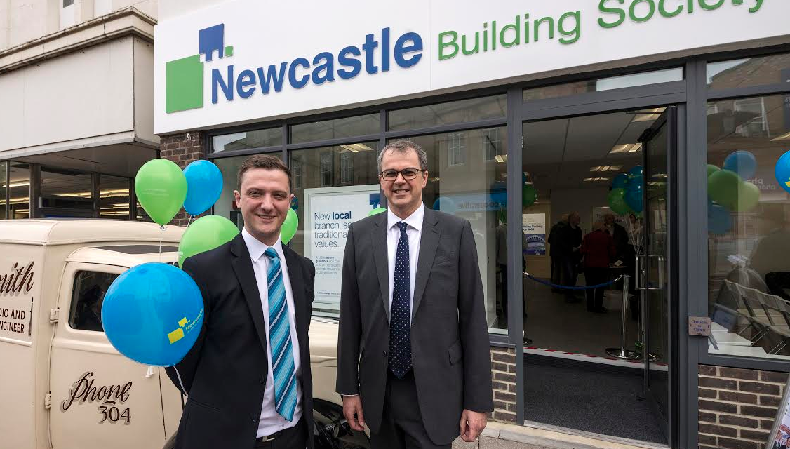 Tea Time at official opening of Newcastle Building Society's Refurbished Chester-le-Street Branch