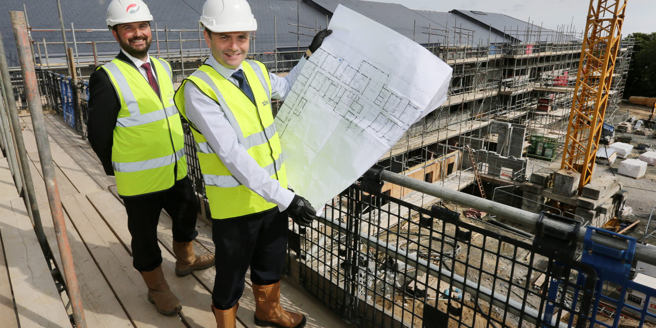 Topping out Celebration for Isos Housing's New Extra Care Scheme in Alnwick