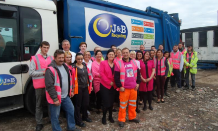J&B staff are in the pink to help out Butterwick Hospice