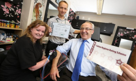 Tattoo hygiene rating scheme launched with full marks