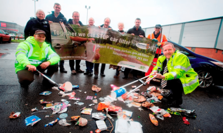 Driving out litter in County Durham