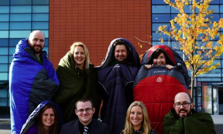 Awarding Organisation's sponsored sleep out raises over £2000 for The Prince's Trust