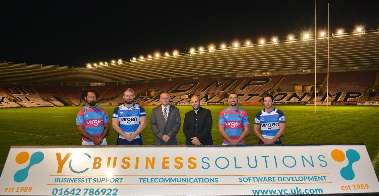 YC Business Solutions Renews Darlington Mowden Park Rugby Sponsorship