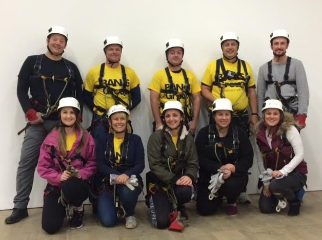 Fundraising for Durham Kids Charity brings Brave Banks Group Staff quickly down to Earth