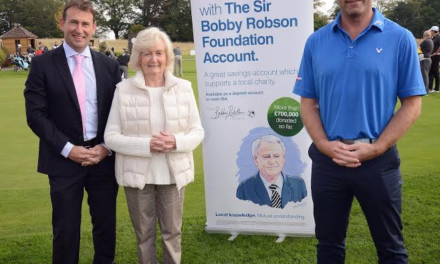 Newcastle Building Society Savers pass £1.5m Fundraising mark for Sir Bobby