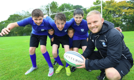 Rugby fever grips Northumberland students following funding boost for school