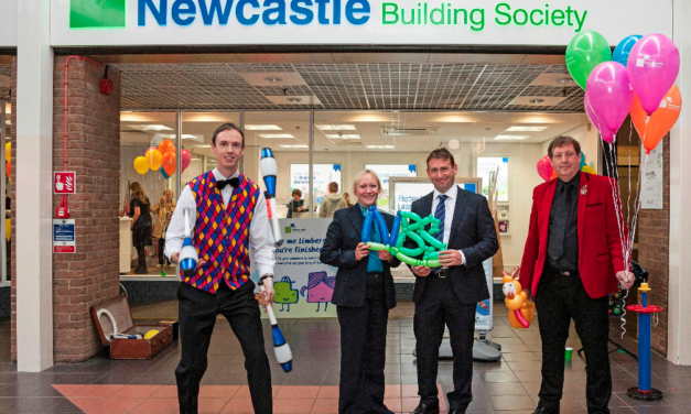 Family Fun at official opening of Newcastle Building Society's Refurbished Cramlington Branch