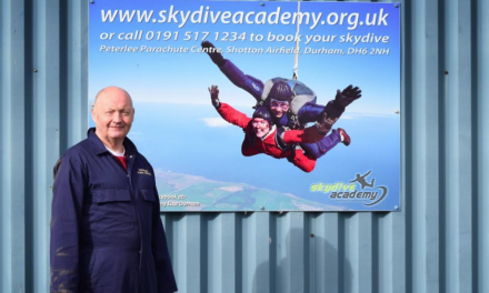 Alan's Fundraising hits the roof after 15,000ft Parachute Jump