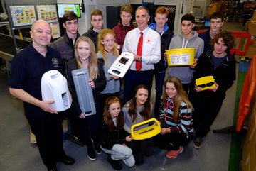 Pupils get a lesson in product design at Icon Plastics