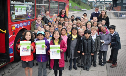 Newcastle pupils see the sights after winning design competition
