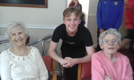 Middlesbrough FC teens entertain elderly residents