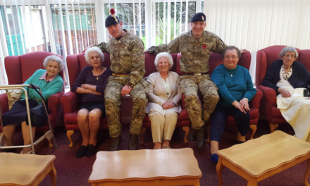 Veteran welcomes army heroes to care home