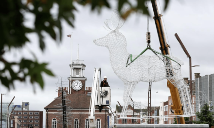 Gigantic Festive Creatures arrive in Stockton in time for Christmas