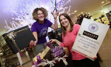 Barkers boost to hospital scanner appeal – gift wrapped!