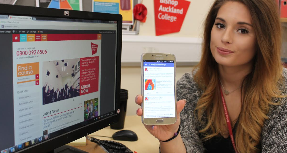 Bishop Auckland College has hired an apprentice to help lead its social media activity.