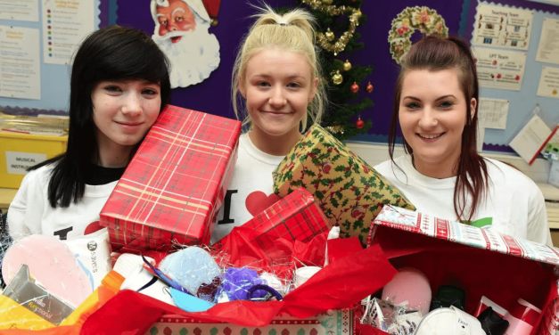 Redcar College boxes up support for charities