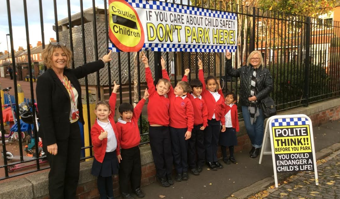 First school campaigns against unsafe parking