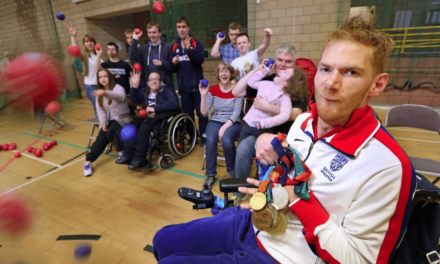 Special Visitor for New Boccia Club