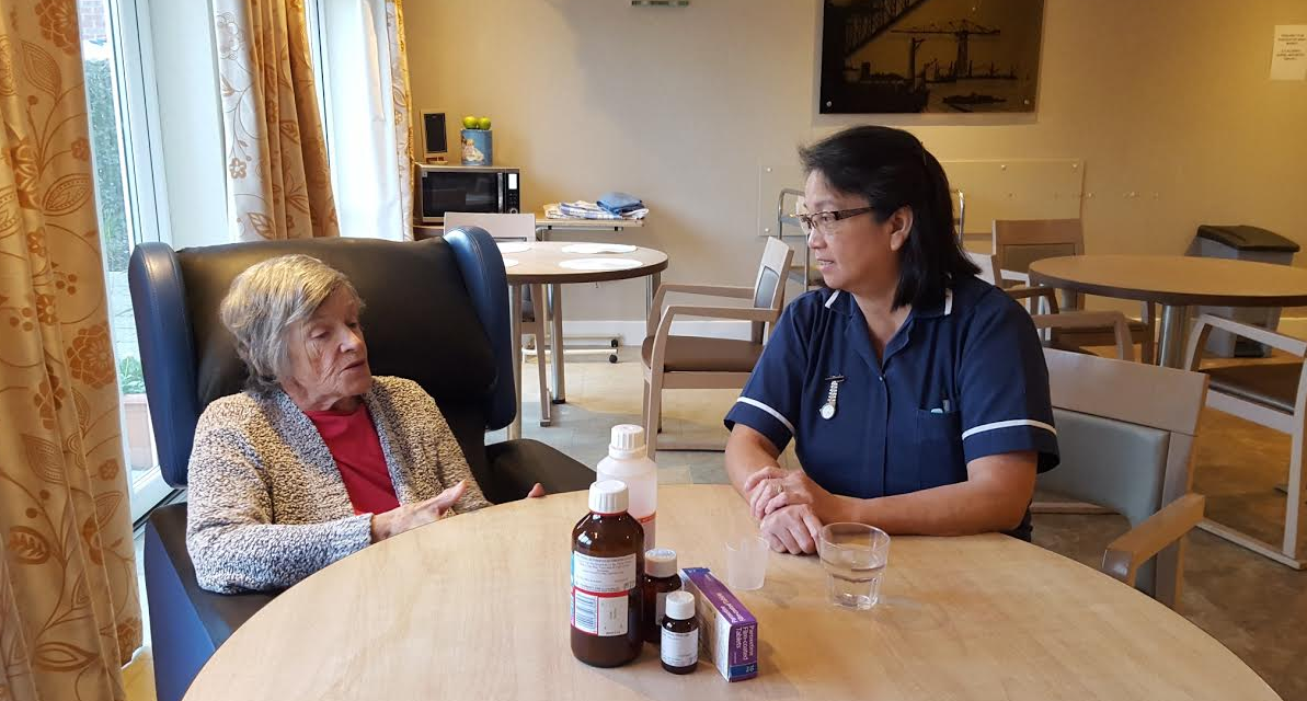 Care home stars in pioneering film about medication