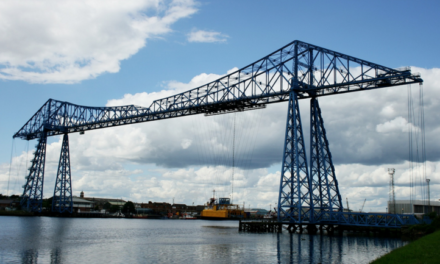 Festive Running at the Transporter Bridge