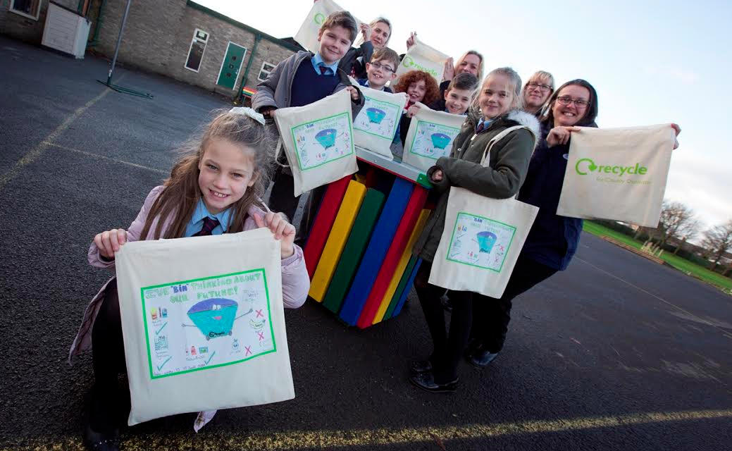 Recycling rewards for pupils