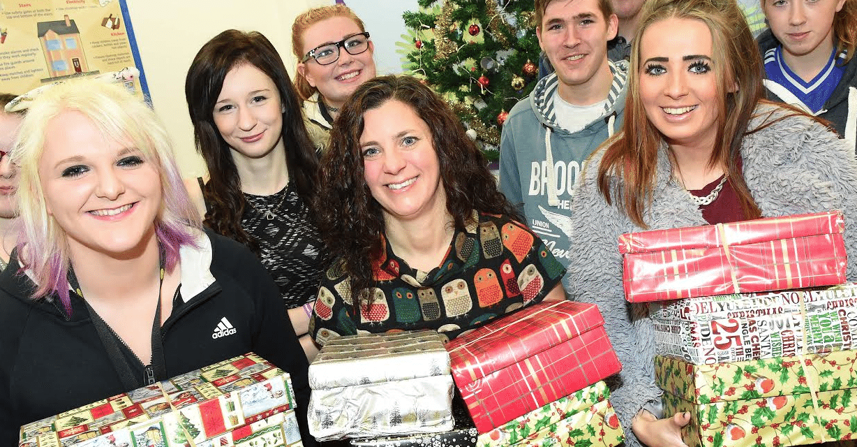 Redcar College boxes up support for women's charity