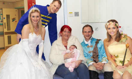 Cinderella stars bring panto magic to children's ward