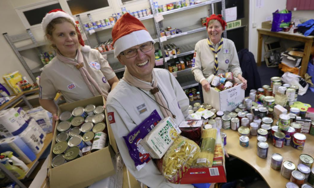 Scouts help the needy this Christmas