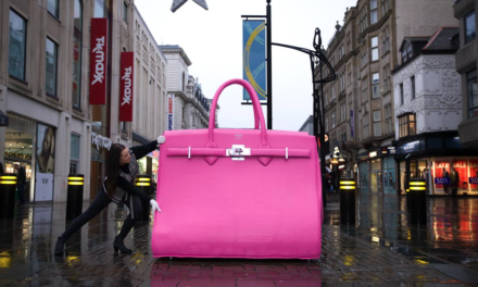Handbag Clinic creates North's biggest handbag to celebrate Newcastle store opening