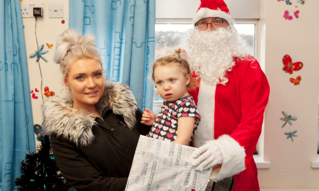 Santa delivers special gifts to Sunderland Hospital