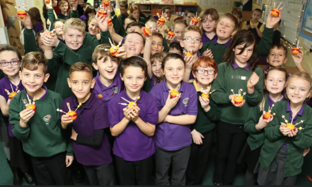 Students celebrate Christingle