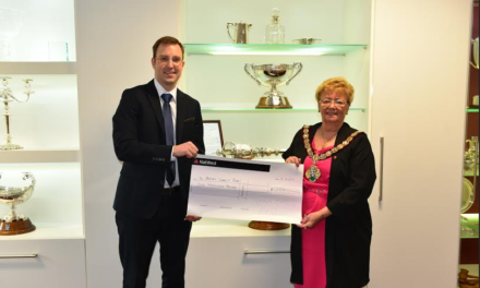 Loftus optician donates prize money to Mayor's Charity Fund
