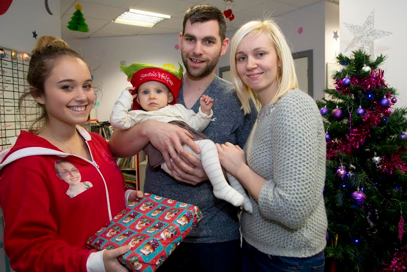 Young patients receive presents from charity started by teenager