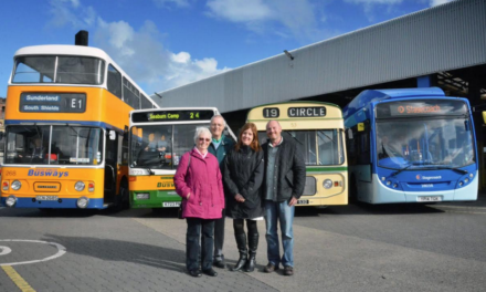 Former Bus Driver remembers the good times at Bus Depot visit